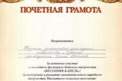 Весенняя капель, Сувенир, 2012