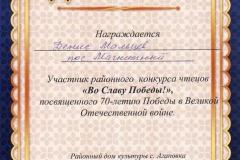 Во Славу Победы 2015 - Денис Мальцев