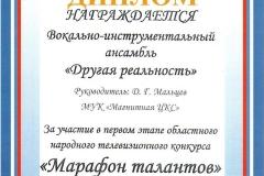 Марафон талантов 2017 - Другая реальность - участник